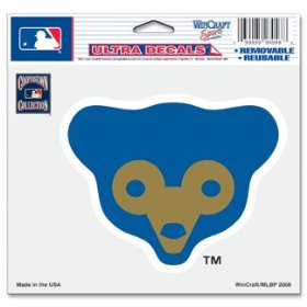 "Show details of Chicago Cubs ""Cubbie Bear Logo"" Ultra Decal 5"" x 6""."