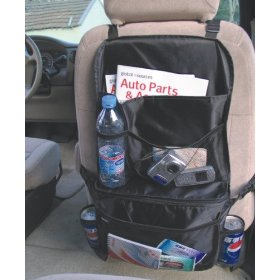 "Show details of multifunctional Super Capacity Plus Carriage Bag, Seat Back Organizer, Size 3.5"" x 17"" x 24""."