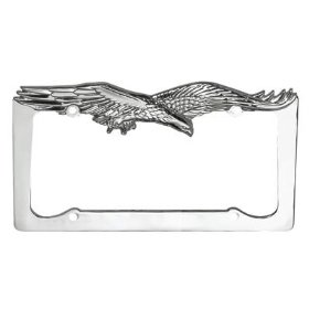 Show details of Chrome Flying Eagle License Plate Frame.