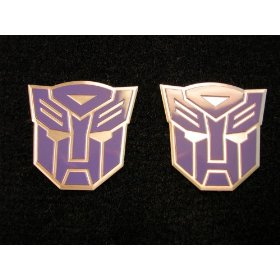 Show details of Transformers Autobots Aluminum Emblems Purple (Pair).