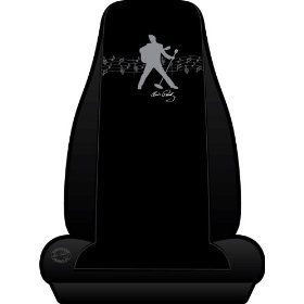 Show details of Elvis Presley Silhouette Universal Bucket Seat Cover.
