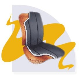 Show details of Jobri - BBBK/TP - BetterBack Car Seat Cushion with Tempur Pedic Pressure Relieving Material - Black -.