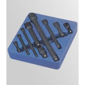 "Show details of 9 Piece 1/4"", 3/8"" & 1/2"" Dr. Impact Extension Bar Set."