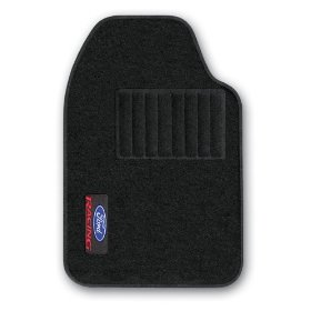 Show details of PlastiColor 001398R01 Ford Racing Universal-Fit All-Carpet Front Floor Mat -Set of 2.