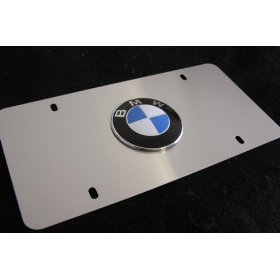 Show details of BMW License Plate - Brushed Stainless.