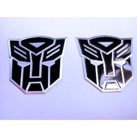 Show details of Transformers Autobots Aluminum Emblems Black (Pair).
