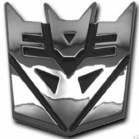 Show details of Deceptacon Transformer Chrome Emblem..