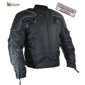 Show details of Men's Two in One Vented Cordura Jacket with Removable Armored and Leather Trim - Size : 3XL.