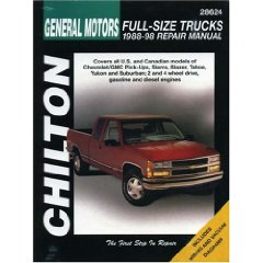 Show details of General Motors Full-Size Trucks, 1988-98, Repair Manual (Chilton Automotive Books) (Paperback).