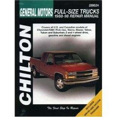 Show details of General Motors Full-Size Trucks, 1988-98, Repair Manual (Chilton Automotive Books) (Paperback).