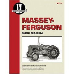 Show details of Massey-Ferguson Shop Manual Models To35, Mh50, Mf50, To35 Diesel, Mhf202, Mf202, Mf35 Diesel, Mf35, Mf204, F40 (Mf-14) (Paperback).