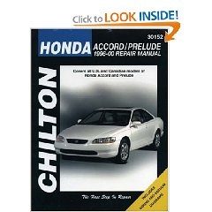 Show details of Honda Accord and Prelude, 1996-00 (Chilton's Total Car Care Repair Manual) (Paperback).