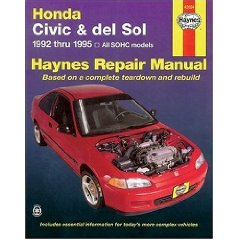 Show details of Honda Civic & del Sol: 1992 thru 1995 All SOHC models Haynes Repair Manual (Paperback).