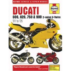 Show details of Ducati 600, 620, 750 & 900 2-valve V-Twins '91 to '05 (Haynes Service & Repair Manual) (Hardcover).