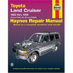 Show details of Toyota Land Cruiser FJ60, 62,80 & FZJ80, '80'96 (Haynes Manuals) (Paperback).