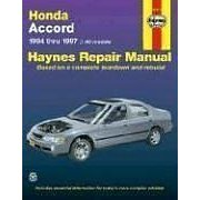 Show details of Honda Accord Automotive Repair Manual : Models Covered, All Honda Accord Models 1994 Thru 1997 (Haynes Auto Repair Manual Series) (Paperback).