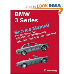 Show details of BMW 3 Series (E30) Service Manual: 1984-1990 (Paperback).
