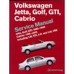 Show details of Volkswagen Jetta, Golf, GTI: 1993-1999 Cabrio: 1995-2002 Service Manual (Paperback).