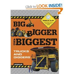 Show details of Big Bigger Biggest Trucks and Diggers - With DVD (Caterpillar) (Hardcover).