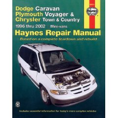 Show details of Dodge Caravan/Plymouth Voyager/Chrysler Town & Country 96-02 (Haynes Repair Manual) (Paperback).