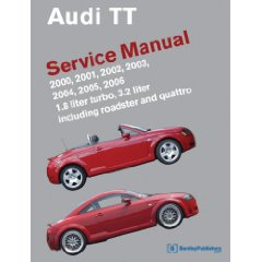 Show details of Audi TT Service Manual: 2000-2006: 1.8 liter turbo, 3.2 liter; including roadster and quattro (Paperback).