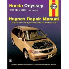 Show details of HONDA ODYSSEY 1999-2004 (Hayne's Automotive Repair Manual) (Paperback).