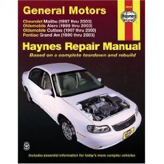 Show details of GM Malibu, Alero, Cutlass & Grand AM, 1997 Thru 2003 (Haynes Manuals) (Paperback).