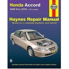 Show details of HONDA ACCORD 1998-2002 (Haynes Repair Manual) (Paperback).