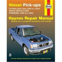 Show details of NISSAN FRONTIER PICKUP 98-04,PATHFINDER 96-04 & XTERRA 00-04 (Haynes Repair Manual) (Paperback).