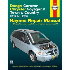 Show details of Dodge Caravan, Chrysler Voyager & Town & Country, 2003-2006 (Haynes Repair Manual) (Paperback).