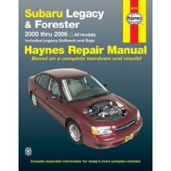 Show details of SUBARU LEGACY & FORESTER, 2000-2006 (Haynes Repair Manual) (Paperback).