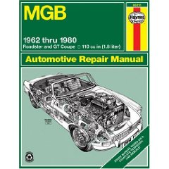 Show details of MGB Automotive Repair Manual: 1962-1980 MGB Roadster and GT Coupe With 1798 CC (110 cu in Engine) (Haynes Manuals) (Hardcover).