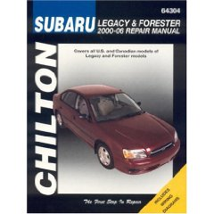 Show details of Subaru Legacy & Forester 2000-06 (Chilton's Total Car Care Repair Manuals) (Paperback).