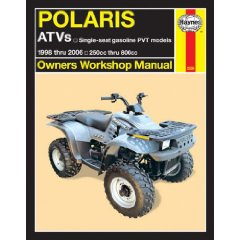 Show details of Haynes Polaris ATVs Owners Workshop Manual: Single-seat gasoline PVT models; 1998 thru 2006 250cc thru 800cc (Paperback).
