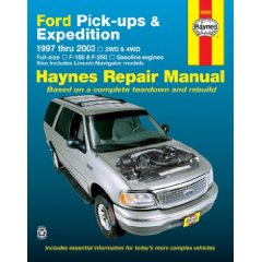 Show details of Ford Pick-Ups, Expedition & Lincoln Navigator 1997-2003 (Haynes Repair Manual) (Paperback).