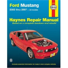 Show details of Ford Mustang 2005 thru 2007 (Haynes Repair Manual) (Paperback).