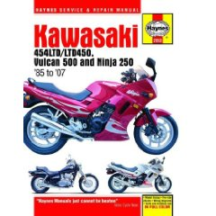 Show details of Kawasaki: 454LTD/LTD450, Vulcan 500 and Ninja 250 - '85 to '07 (Automotive Repair Manual) (Hardcover).