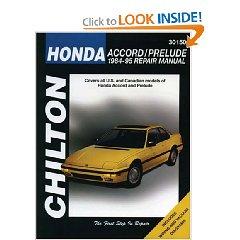 Show details of Honda Accord and Prelude, 1984-95 (Chilton's Total Car Care Repair Manual) (Paperback).