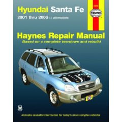 Show details of Hyundai Santa Fe  2001-2006 (Haynes Repair Manual) (Paperback).