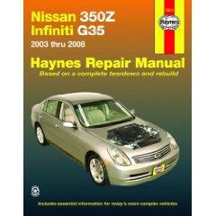 Show details of Nissan 350Z & Infiniti G35, 2003-2008 (Haynes Repair Manual) (Paperback).