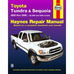 Show details of Toyota Tundra & Sequoia: 2000 thru 2006 (Haynes Repair Manual) (Paperback).
