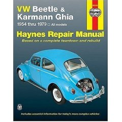 Show details of VW Beetle & Karmann Ghia 1954 through 1979 All Models (Hayne's Repair Manual) (Paperback).