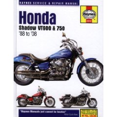 Show details of Honda Shadow VT600 & 750: '88 to '08 (Haynes Service & Repair Manual) (Hardcover).