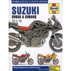 Show details of Suzuki: SV650 & SV650S 99-08 (Haynes Service & Repair Manual) (Hardcover).