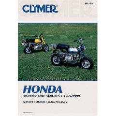 Show details of Clymer Honda 50-110Cc Ohc Singles, 1965-1999 (Paperback).