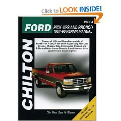 Show details of Chilton's Ford Pick-Ups and Bronco 1987-96 Repair Manual (Chilton's Total Car Care Repair Manual) (Paperback).