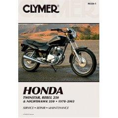 Show details of Clymer Honda Twinstar, Rebel 250 & Nighthawk 250: 1978-2003 (Clymer Motorcycle Repair) (Paperback).