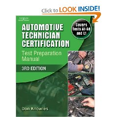 Show details of Automotive Technician Certification Test Preparation Manual (Paperback).