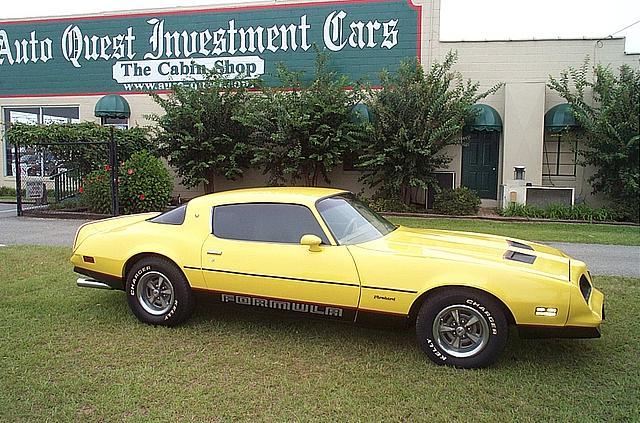 1978 Pontiac Firebird Formula Price 11 995 00 Tifton Ga 9 702 Miles Yellow Tan Interior