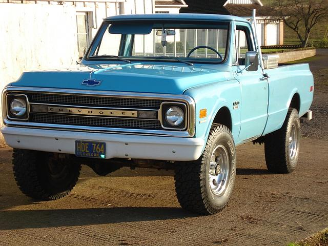 1969 Chevrolet C20 Price 4 500 00 Silverton Or Blue